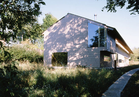 Hans Klaentschi and Paula Klaentschi-designed Long Barn property in Berwick St. James, Wiltshire