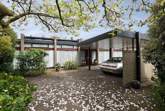 On the market: 1960s Peter Foggo-designed single-storey modernist property in London SW19