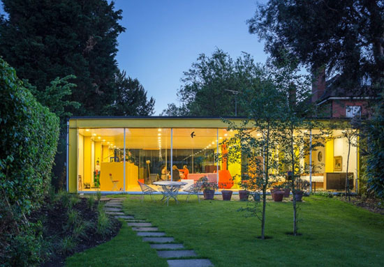 1960s grade II-listed Richard and Su Rogers-designed Rogers House modernist property in London SW19