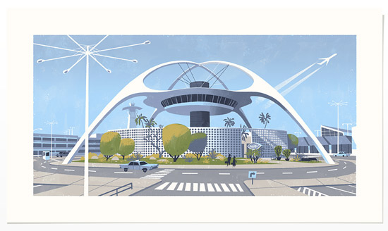 Californian modernist screen prints by Chris Turnham