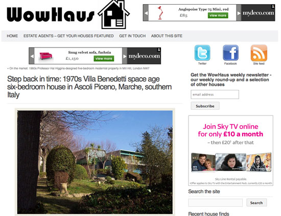 Sign up the WowHaus weekly newsletter – and see even more houses