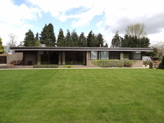 1970s architect-designed single-storey modernist property in  Bangor-on-Dee, near Wrexham, North Wales