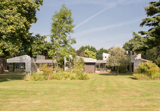 On the market: Remodelled 1960s modernist Wrap House in Godalming, Surrey