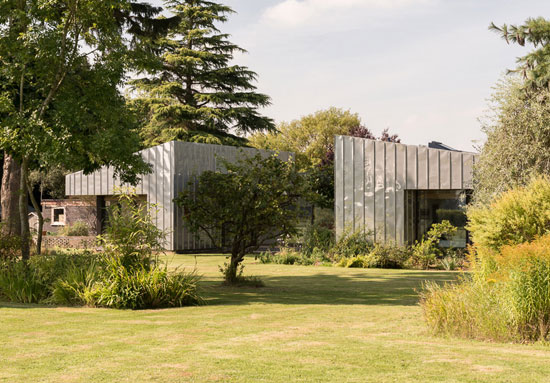 Remodelled 1960s modernist Wrap House in Godalming, Surrey