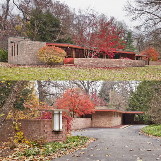 Up for auction: Frank Lloyd Wright's Kenneth Laurent House in Rockford, Illinois