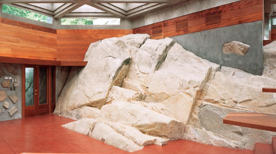 Frank Lloyd Wright-designed house on Petre island, Lake Mahopac, New York, USA