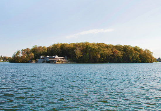 Frank Lloyd Wright-designed house on Petre island, Lake Mahopac, New York, USA