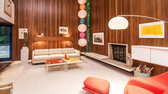 1950s Tivadar Balogh midcentury modern house in Plymouth, Michigan, USA