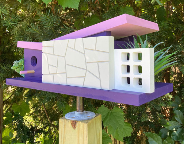 24. Midcentury modern birdhouses by Pleasant Ranch